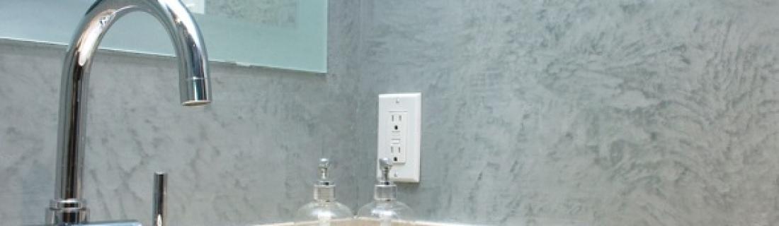 Какую выбрать декоративную штукатурку для ванной комнаты