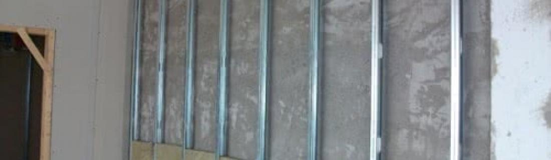 Выравниваем стену гипсокартоном