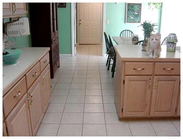Полы на кухне из плитки фото
