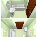 Создаём удобный интерьер в хрущевской ванной