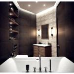 Правильное освещение зеркала в ванной