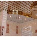 Реечный потолки в ванной комнате: стильно и красиво