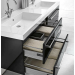 Выбираем мебель под двойную раковину для ванной комнаты