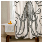 Разнообразие угловых шторок для ванной