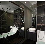 Особенности черной плитки в дизайне ванной комнаты